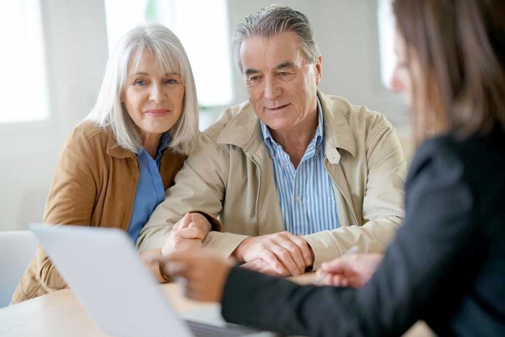 Estate planning preparation of an old couple